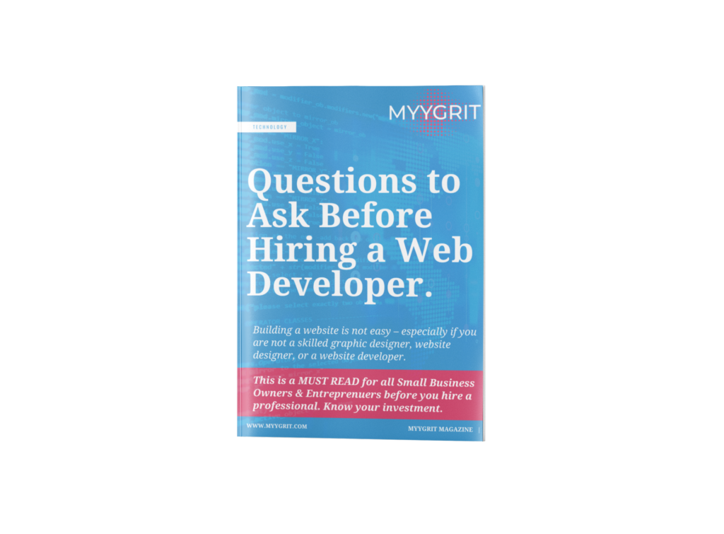 MYYGRIT WEB DESIGN QUESTIONS TO ASK A WEB DEVELOPER USER GUIDE