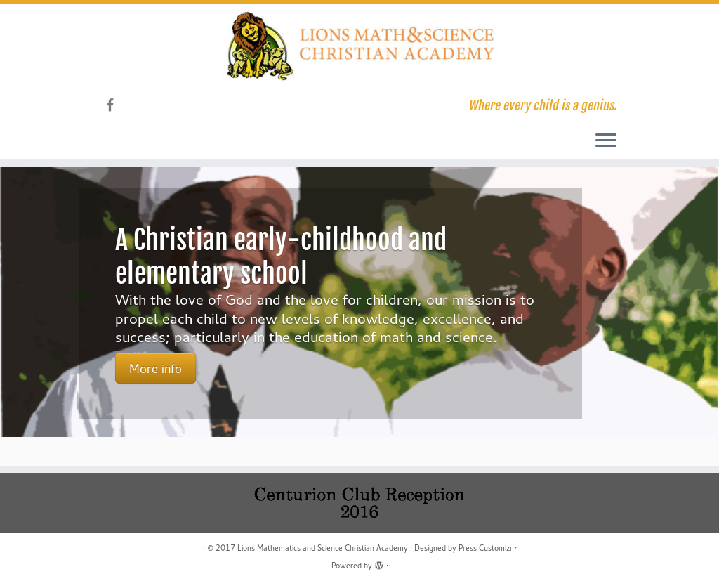 Lions Math & Science old homepage of website
