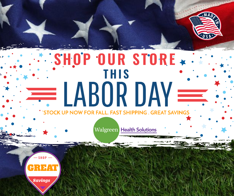 Walgreen Health Solutions Products Facebook Social Media Labor Day Shop Store Announcement