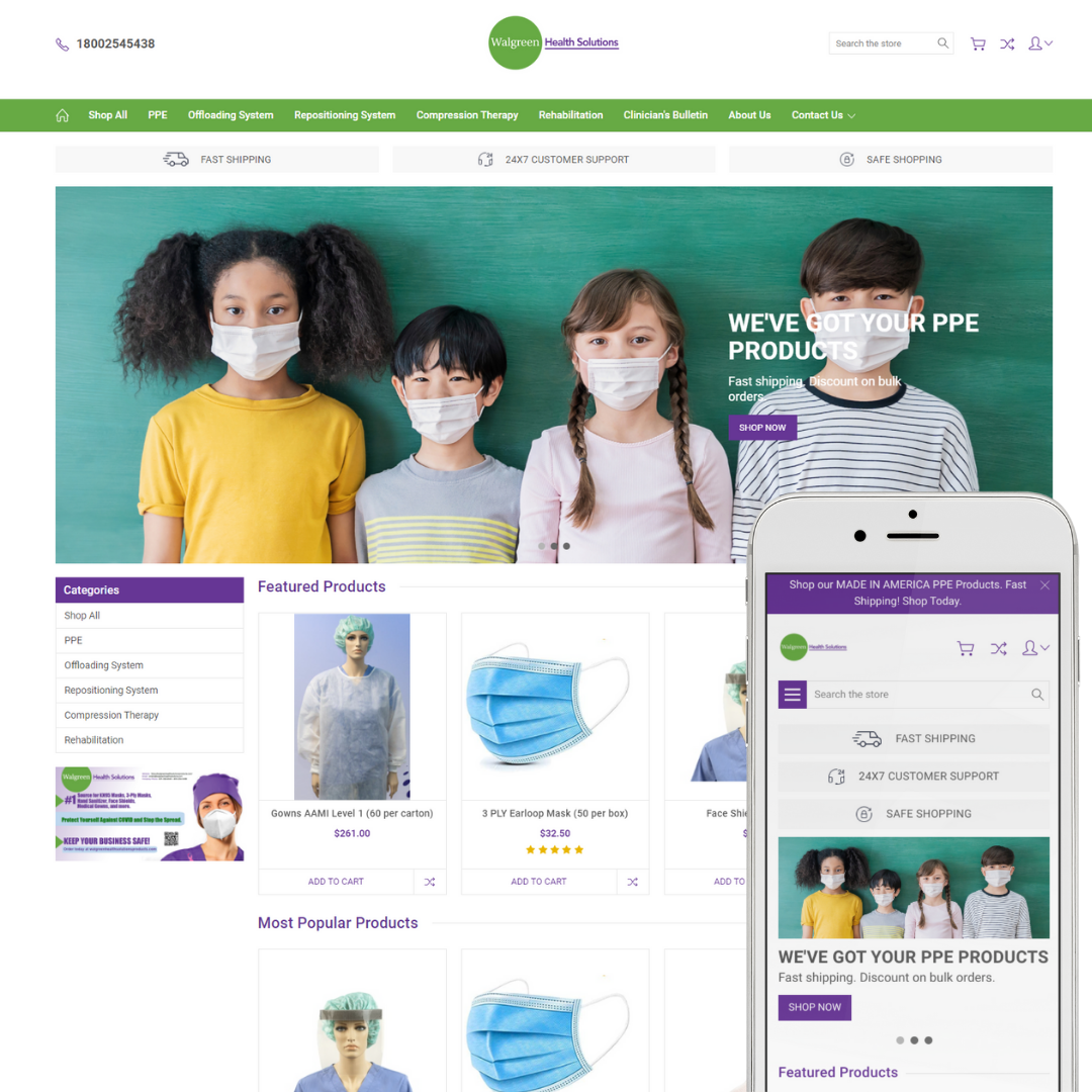 Walgreen Health Solutions Products Website Designed by MYYGRIT